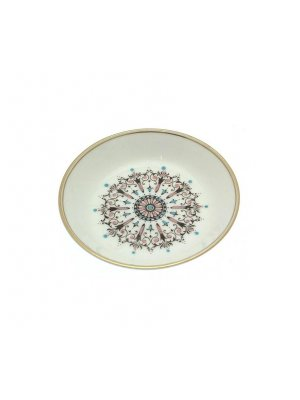 Pretty Royal Worcester Medallion pattern pin dish - CLT553