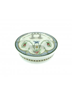 Unknown Manufacturer - old pot with lid - pattern name Stella - a/f - CLT292