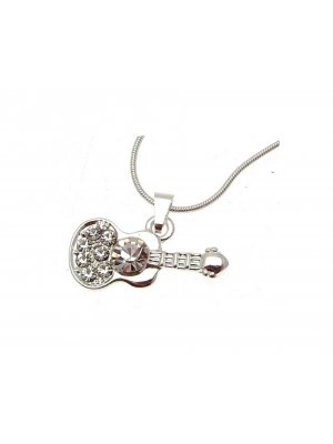 Pendant Necklace Guitar diamante guitar design - 114175