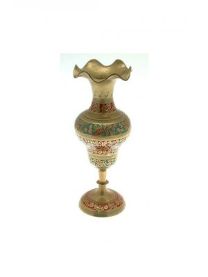 Indian brass tall vase - CLT255