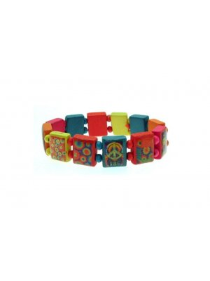 Childrens Bracelet Multicoloured saint bracelet style wooden fashion bracelet