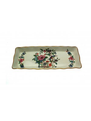 Aynsley Pembroke oblong tray gold trim 10.25 x 4.25 inches