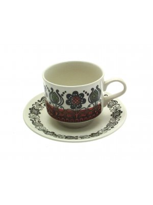 Broadhurst Romany Kathie Winkle pattern Cup and Saucer