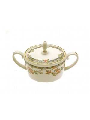 Coalport Trellis Rose Sugar Bowl 4 inch Seconds Quality