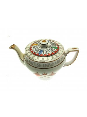 c1914 Harpers Collingwood British Empire Clocke Teapot - CLT9