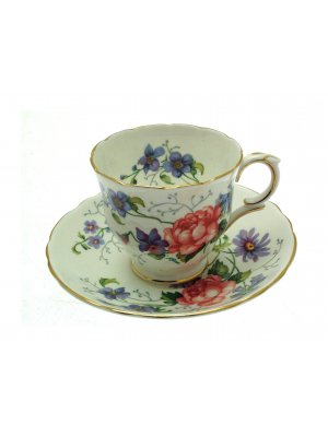 Crown Staffordshire Englands Glory F16333 Cup and Saucer