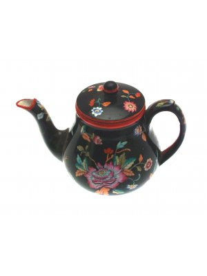 c1820 Davenport Teapot Hand Painted Small - CLT12