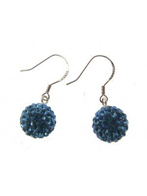 Drop Earrings For Women Silver Earrings Silver Drop Earrings Blue 114255