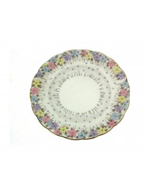c1930 Goodwin Stoddard Foley floral and gilt 6.25 inch side plate