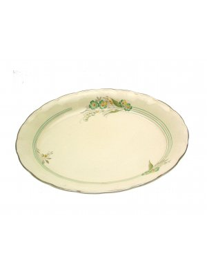 Grindley Vine Cream Petal 12 inch Ashet or Meat Plate
