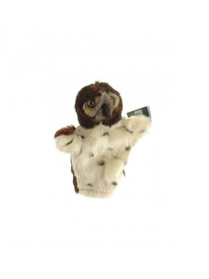 Owl hand puppet or owl puppet - brown head