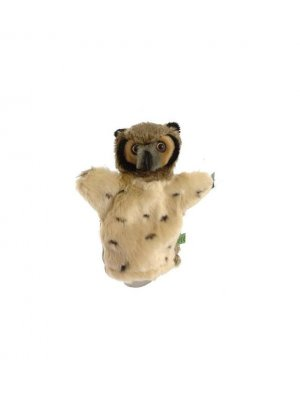 Owl hand puppet or owl puppet - tan head
