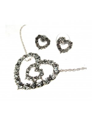 Necklace Set Heart Pendant Heart Necklace Heart Jewellery JW101