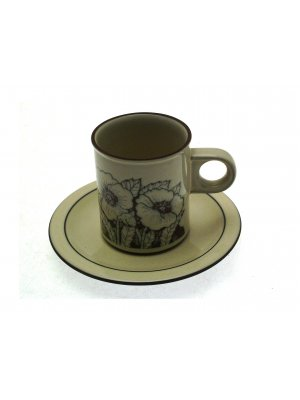 Hornsea Cornrose Coffee Cup and Saucer