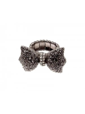 Fashion Jewellery Ring Bow adjustable size Q-R but stretches to larger size 114249