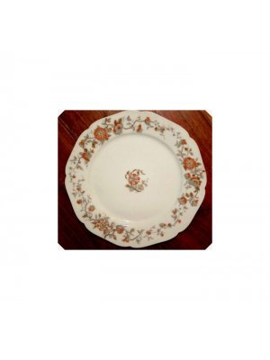 Limoges 8.75 inch plate white with orange flowers
