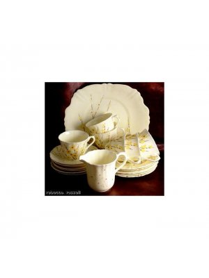 Crown Staffordshire F14602 Pale Yellow 10.25 inch Cake Plate