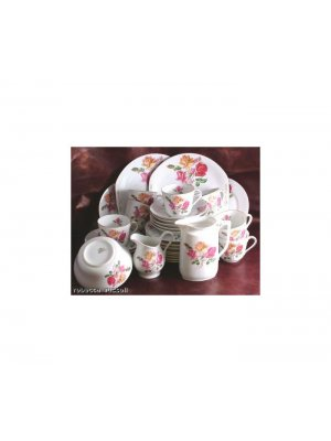 Victoria China Floral rose pattern 6.5 inch Side Plate
