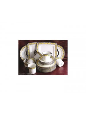 William Hudson Sutherland yellow and black 1100 10 inch Cake Plate