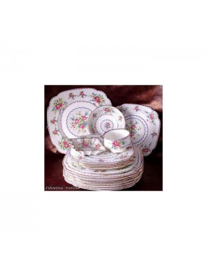 Royal Albert Petit Point 8.75 inch Square Plate 2nds quality