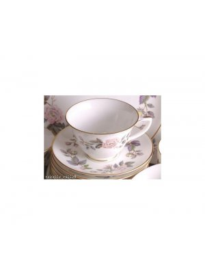Royal Worcester June Garland Cup and Saucer