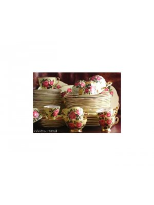 Windsor yellow and pink rose 1181 8 inch square Plate