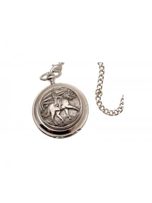 Pocket Watches For Men Mechanical Pocket Watch Horse riding Pewter Fronted design 31