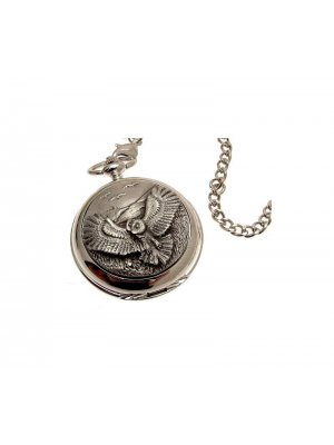 Pocket Watches For Men Mechanical Pocket Watch Owl design Pewter Fronted 42