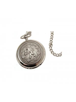 Pocket Watches For Men Mechanical Pocket Watch Rampant Lion design Pewter Fronted 18
