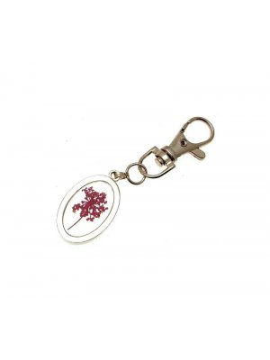 Real flowers keyring - great gift idea - Pink small Flower design