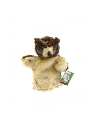 Owl hand puppet or owl puppet - brown & tufty ears