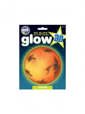 Glow in the dark 3D sticker Mars