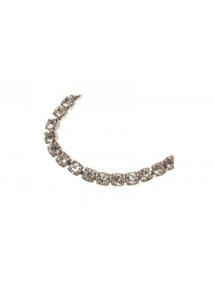 Ladies vintage Weiss clear rhinestone or diamante necklace - 14 inch choker length 12385