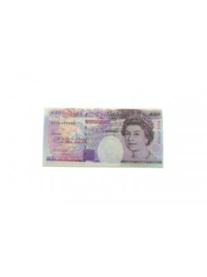 Souvenir rubber eraser Bank of England Note GBP20.00