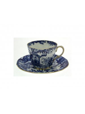 c1933 Royal Crown Derby Mikado pattern cup and saucer