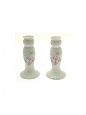 Pair of Aynsley Little Sweetheart Candlesticks - 6 inches in height - LS10