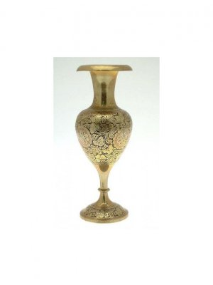 Indian brass heavy vase - CLT264