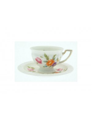 Rosenthal Maria tiny cup and saucer - gilding to handle of cup - CLT252