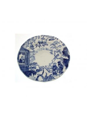 c1926 Royal Crown Derby Mikado pattern blue and white 6 inch plate - no gold trim