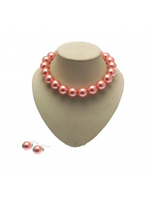 Beaded Necklaces For Women Choker Necklace Large Bead Necklace And Earrings AW65