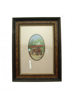 Cashs silk woven picture in frame Steam Roller CP2350