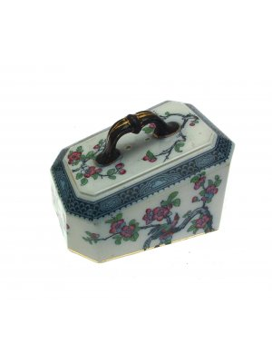 Flow Blue Chinoiserie Birds Cheese Dish COVER ONLY