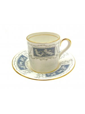Coalport Revelry Blue Coffee Cup and Saucer