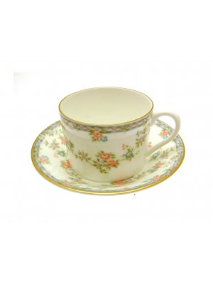 Coalport Trellis Rose Cup and Saucer