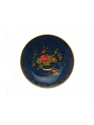 Crown Staffordshire Cobalt Blue Basket of Flowers Pattern Chinoiserie Saucer only