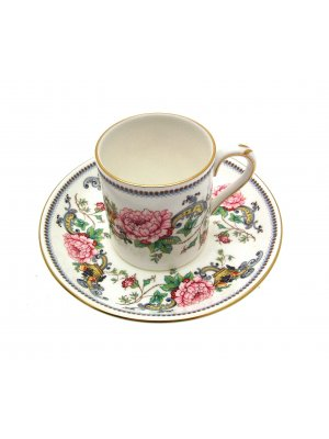 Crown Staffordshire Chelsea Manor Coffee Cup & Saucer