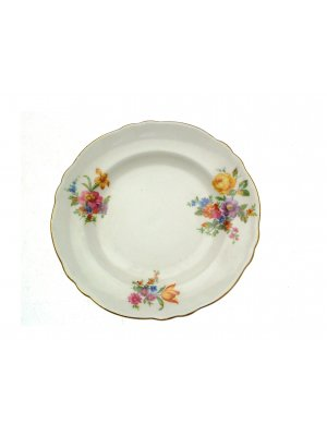 Crown Staffordshire Orange Pink and Floral pattern 6.25 inch side plate