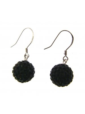 Drop Earrings For Women Silver Earrings Silver Drop Earrings Black 114258