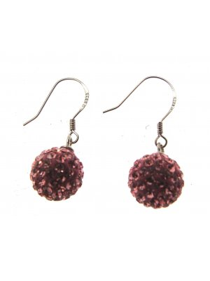 Drop Earrings For Women Pink Earrings Silver Drop Earrings 114254