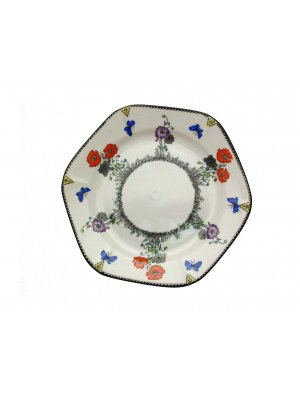 Foley J Goodwin Stoddard Field Poppy 6.5 inch Side Plate